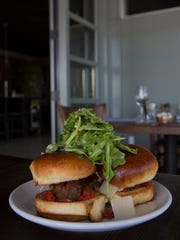 The lamb meatball sliders at Cuvee Wine Table.