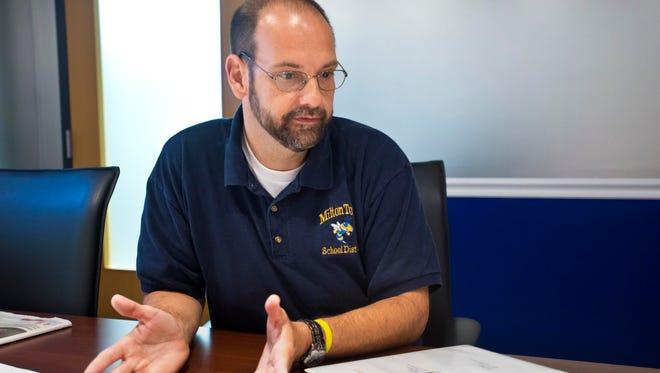 Milton Town School Distrtict Superintendent John Barone in August.