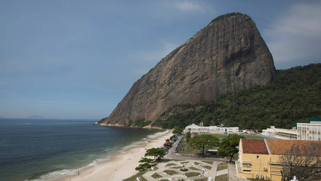 A view of the Brazilian Army Physical Training Center, where some teams will be training during the upcoming World Cup, in Rio de Janeiro. Sugar Loaf mountain is pictured in the background.
