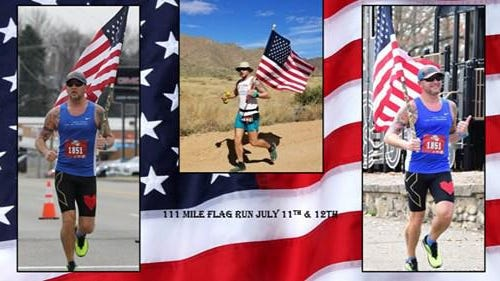 Bolivar's Stephen Strawn is attempting an 111 mile-run July 11-12 while carrying the flag unassisted to raise money for local Northeast Ohio veterans in need. Submitted photo