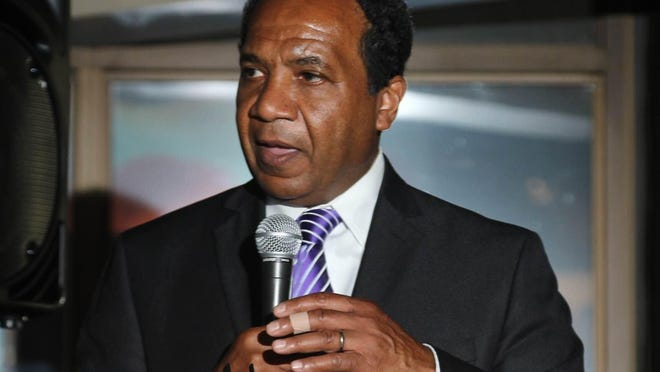 Wilmington Mayor Dennis P. Williams speaks during Delaware Night at the NAACP National Convention in Philadelphia on Monday night. The NAACP Bear Branch and NAACP Delaware State Conference hosted the event.