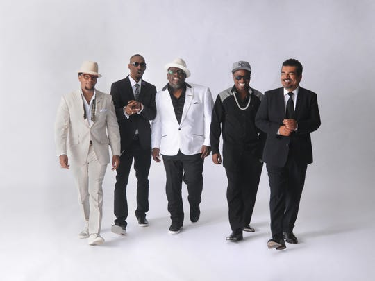 D.L Hughley (from left), Charlie Murphy, Cedric The Entertainer, Eddie Griffin  and George Lopez command the laughs Saturday at the Mississippi Coliseum.