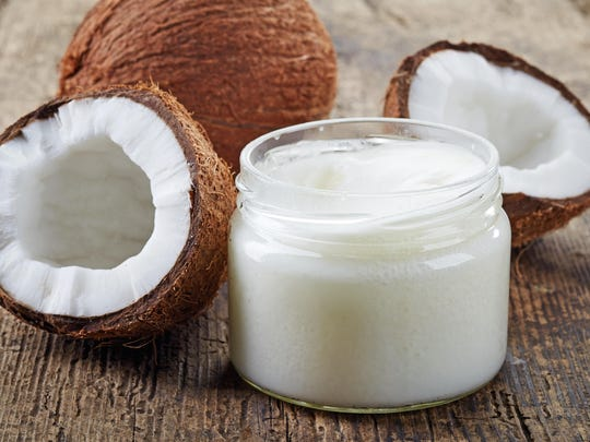 "Swishing a teaspoon of coconut oil around in your mouth for anywhere from 3 to 30 minutes helps because the oil ""pulls"" the bacteria from the teeth and whitens them."