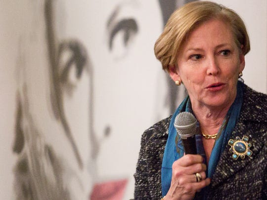DuPont CEO Ellen Kullman speaks at an event in Greenville in February 2013.