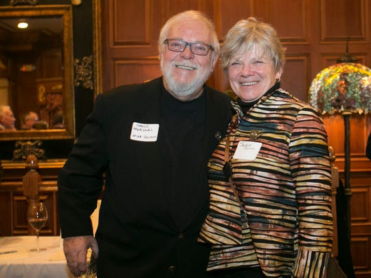 2017 Grand Marshal T. Michael Quinn and wife Jackie. Participants and sponsors of the St. PatrickÕs Day Parade are honored at a reception in the mahogany room in the Grand CafŽ,  Morristown, NJ. Wednesday, Feb. 15, 2017. Special to NJ Press Media/Karen Mancinelli/Daily RecordMOR 0217 St Patricks Grand CafŽ