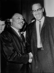 The Rev. Martin Luther King Jr. and Malcolm X at the Capitol in Washington, D.C., on March 26, 1964.