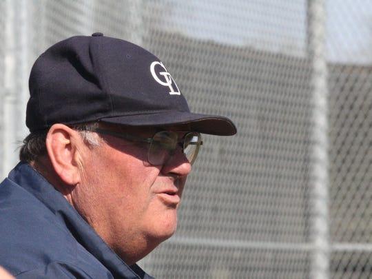 Cincinnati Country Day School head baseball coach Tim Dunn watches his team face Cincinnati Christian on April 12.