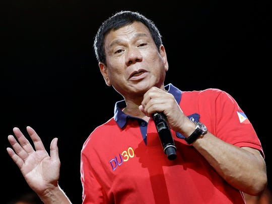 The leading Filipino presidential candidate, Davao