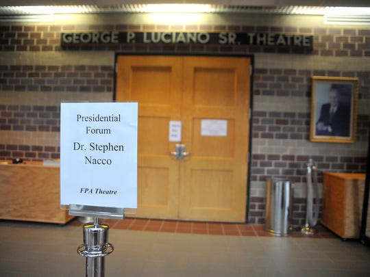 Dr. Stephen Nacco, one of the three final candidates for the job of Cumberland County College president, has his presidential forum there, Tuesday, Feb. 23 in Vineland.