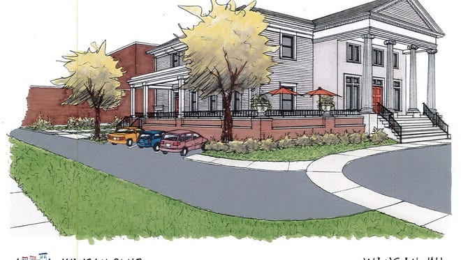 A 2015 drawing from Elk Creek Architectural shows plans for a renovated Wausau Club's northeast corner.