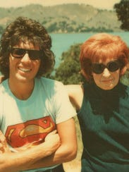 Garry Shandling and his mother, Muriel, are seen in
