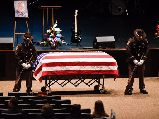 Funeral for Oakland County deputy sheriff Eric Overall,