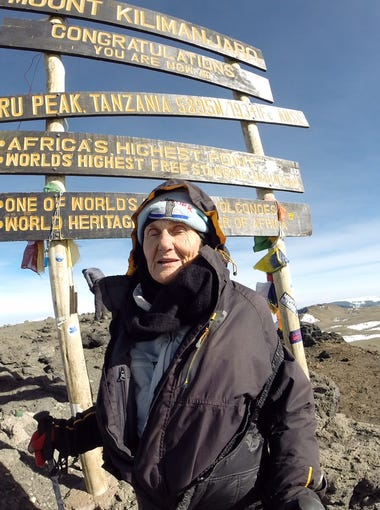 Anne Lorimor, 85,  reached at the top of Mount Kilimanjaro