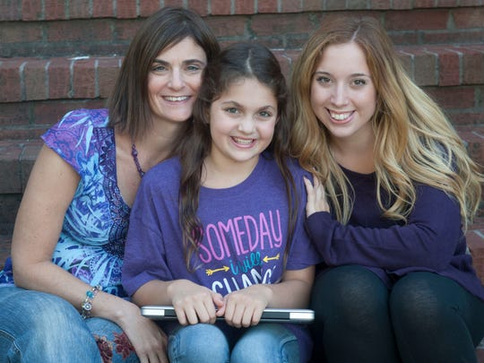 Samantha with her mom Janine Buggle (left) and her friend Elizabeth Percy of Union Beach.