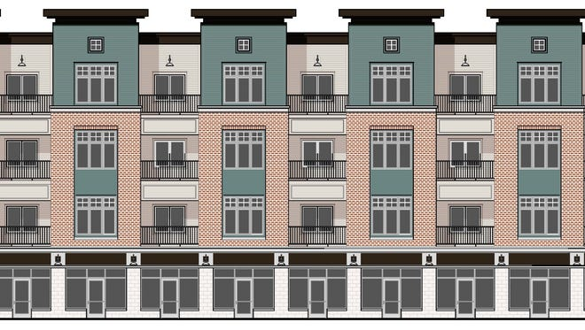 Plans for East Town Flats call for 39 residential units on the 2000 block of East Michigan Avenue.