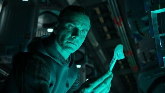 Michael Fassbender has dual roles in 'Alien: Covenant,'