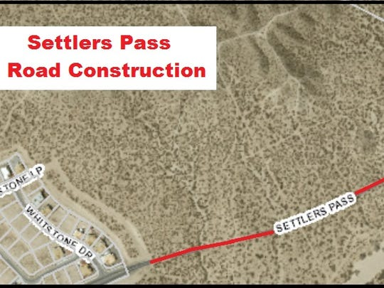 A repaving project is taking place on a segment of Settler's Pass that links Rinconada Boulevard to Roadrunner Parkway in Las Cruces.
