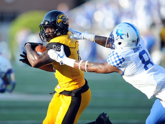 Southern Miss wide receiver Korey Robertson runs the