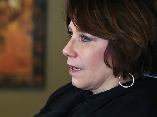 Monica Foster reflects on her memories of Paula Cooper as she sits in her office at the Indiana Federal Community Defenders office in Chase Tower on Monday, June 1, 2015. Cooper, who at the age of 15 in 1985, murdered Ruth Pelke, 78, of Gary and was convicted and sentenced to death. Cooper was released in 2013 and committed suicide on May 26, 2015.