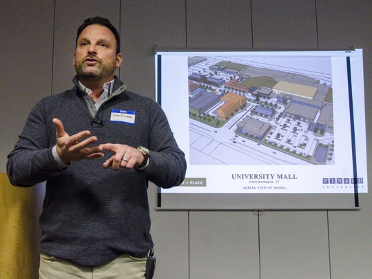 Todd Finard discusses the redevelopment of the University Mall in South Burlington on Tuesday, January 19, 2016.