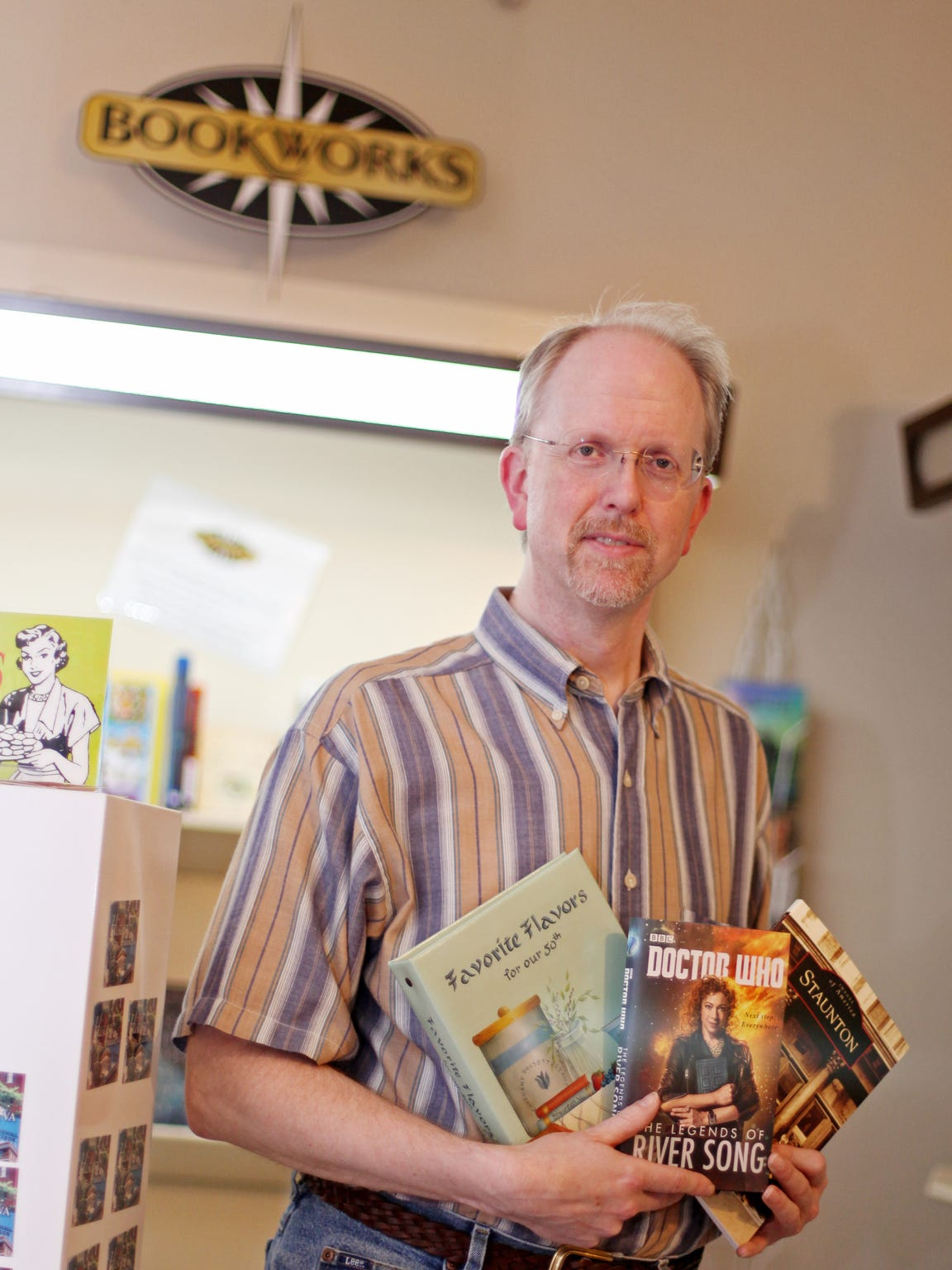 Ron Ramsey, owner of Bookworks, has a space upstairs