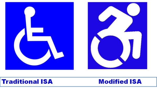 The New York state Legislature on Tuesday approved a bill that would alter the traditional image on signs for accessibility ramps and parking spaces.