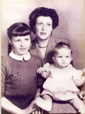 Marie Turner with daughters Harriet, left, and Susan