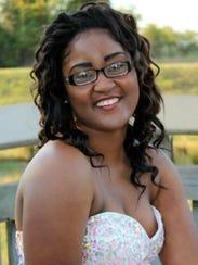 Kenyada Smith, a graduating senior from Pineville High