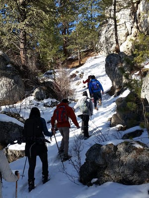 Montana Wilderness Association Winter Walk along the Middle Fork of the Judith River.