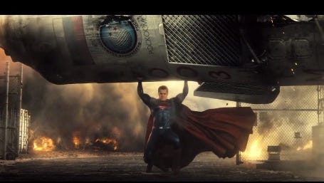 Batman v Superman: Dawn of Justice teaser trailer.