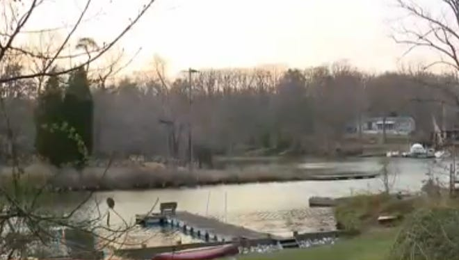 A kayaker was shot April 12, 2014, in Pasadena, Md., and police are looking for a suspect who was at a bonfire party on a tributary to Chesapeake Bay.