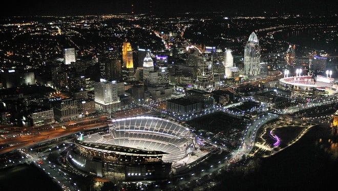 Aerial view of Paul Brown Stadium.