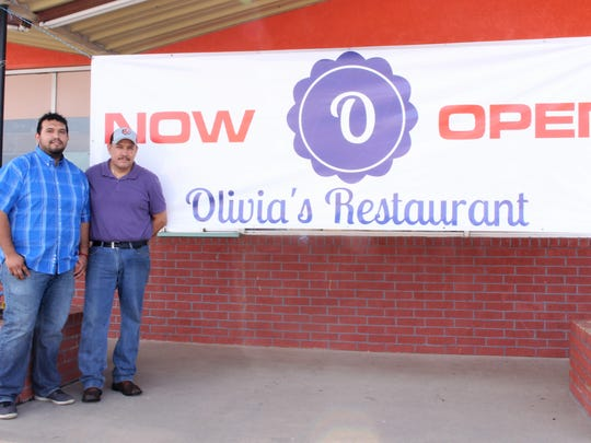 Father, Juan Mendoza, and son, Francisco Mendoza, opened Olivia's Restaurant, 2011 N. Chadbourne St., on Feb. 16.