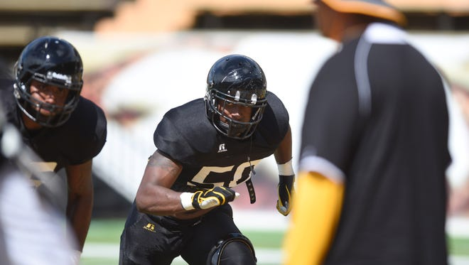 Southern Miss linebacker Allen Fails is pushing for playing time as a junior walk-on.