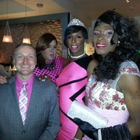 Ryan Jimenez (left) and Eric Pinckney, the founder of the Pink Prom.