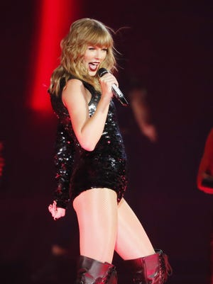 Taylor Swift performs during the launch of her Reputation Tour at University of Phoenix Stadium in Glendale, Ariz. May 8, 2018.