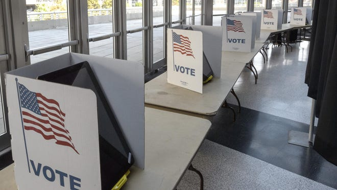 MemVoting machines are ready for early voting into the Smoothie King Center in New Orleans, La. Thursday, Oct. 15, 2020. Early voting will run from Oct. 16 to Oct. 27 - except on Sundays - from 8 a.m. to 7 p.m. at the arena and four other locations in New Orleans.
