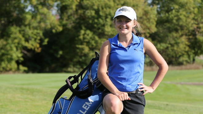 Salem senior Darby Scott is happy about how her golf game keeps getting better. She qualified for the Division 1 girls golf state meet for the second straight season.