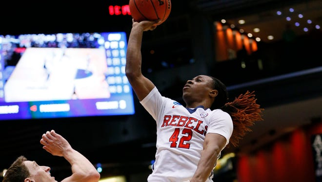 Ole Miss guard Stefan Moody's 28 points led the Rebels to a 75-64 win on the road against SEMO on Saturday.