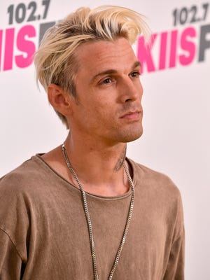 Singer Aaron Carter, seen in May, received results of an HIV test on 'The Doctors.'