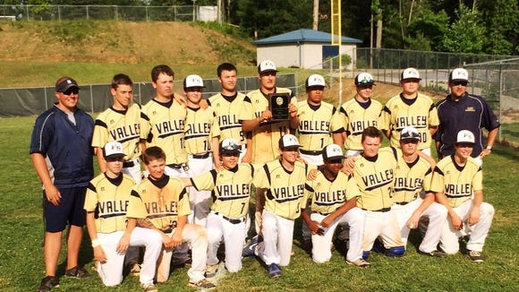 The Valley Springs Middle School baseball team.