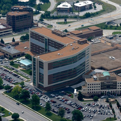 Cox South Hospital from the air on Friday, June 9,