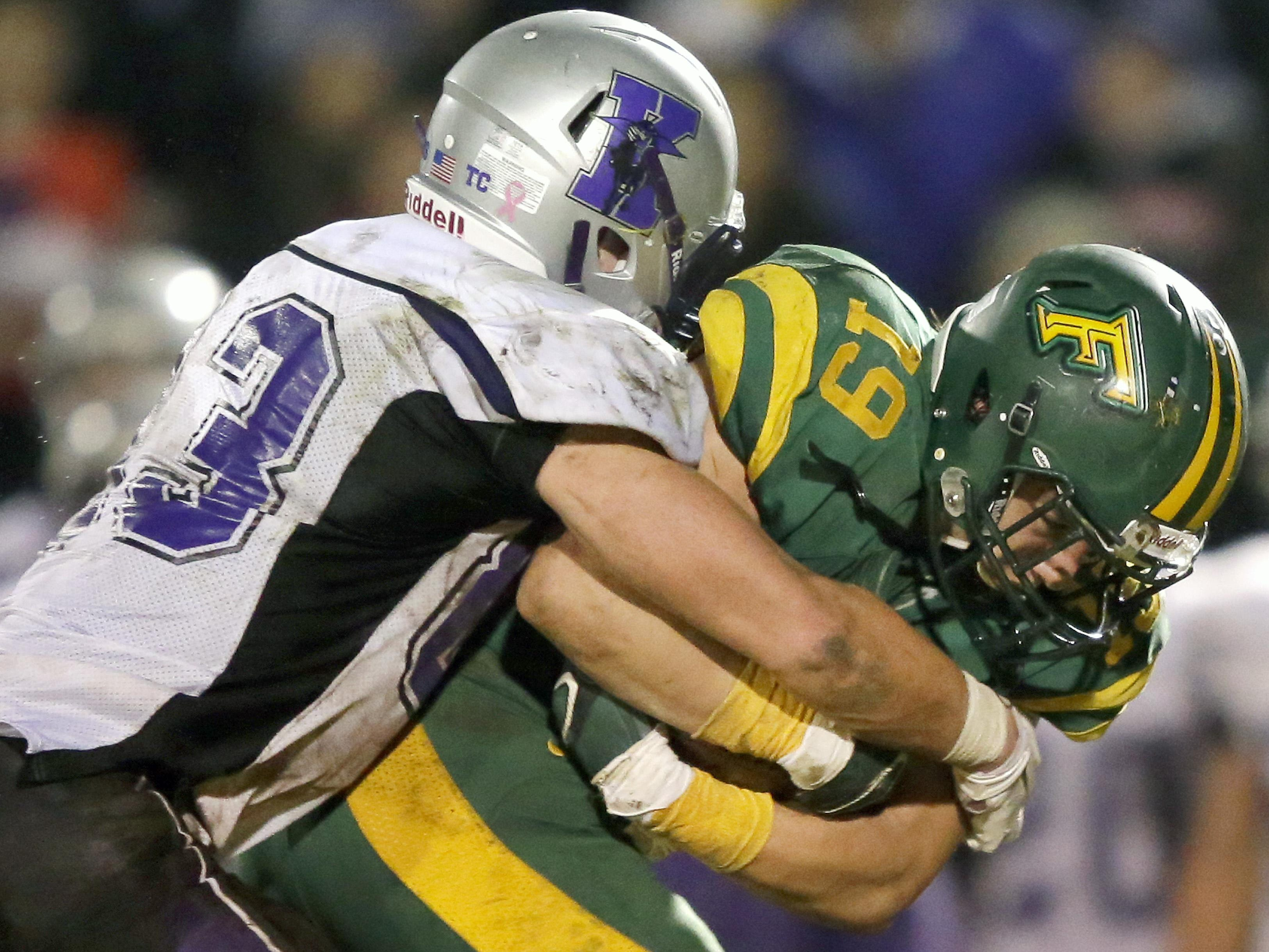 Kiel junior Austin Goehring (83) was the co-Defensive Player of the Year in the Eastern Wisconsin Conference.