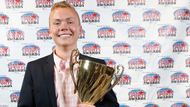 Central Magnet's Connor Meadows earn the Daily News Journal's male President's Cup award at Sunday's All-Sports Awards.