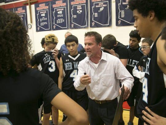 Deer Valley head boys basketball coach Jed Dunn talks