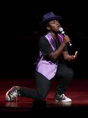"""Jacquez Swanigan plays a young Michael Jackson in the  """"King Michael: A Glorious Tribute to the King of Pop."""""""