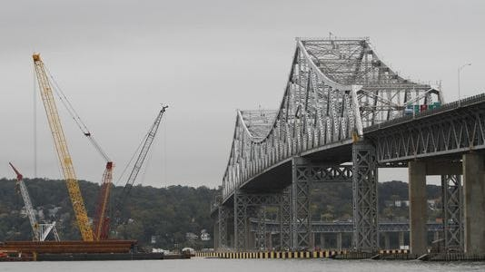 The Tappan Zee Bridge construction site.