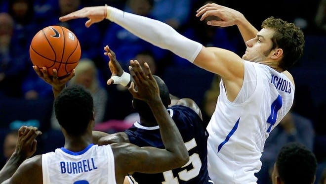 Austin Nichols transferred from Memphis under then-coach Josh Pastner and sat out the 2015-16 season per NCAA transfer guidelines.