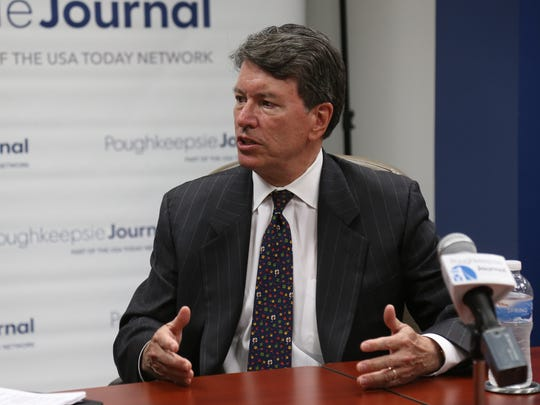 U.S. Rep. John Faso during an editorial board meeting at the Poughkeepsie Journal on May 30.