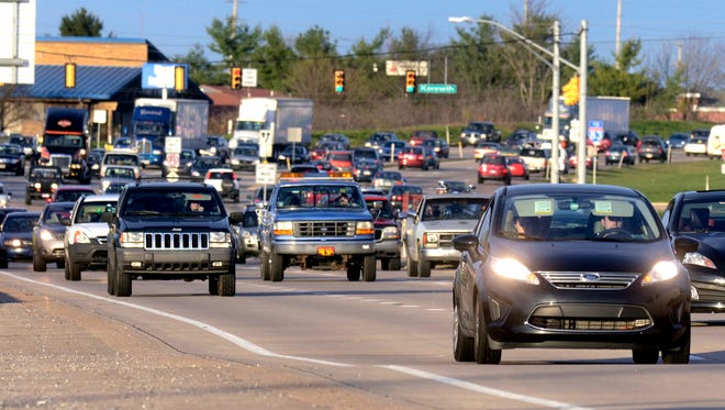Westbound traffic travels over aon Route 30 east of the Carlisle Road in this file photo. Bill Kalina photo